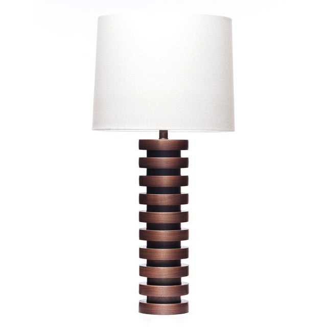Brown Lawrence & Scott Malmo Walnut Table Lamp For Sale - Image 8 of 8