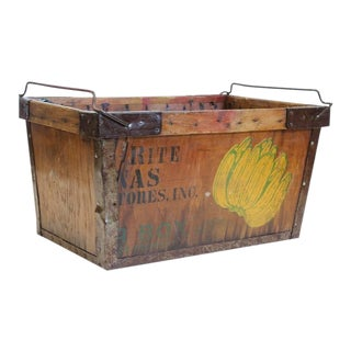 Vintage American Banana Crate For Sale