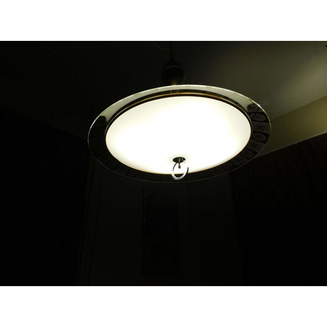 Lightoleir Mid-Century Retractable Atomic Saucer Chandelier - Image 6 of 6