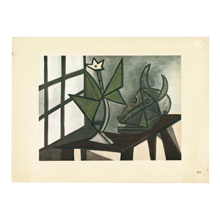 1943 Picasso, Original Large Nature Morte Au Crâne De Bœuf Lithograph For Sale