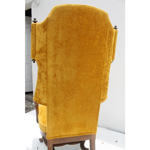Jim Peed For Drexel Brass Final Accent Tall Wingback Chair - Image 9 of 11