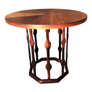 Rare Foster McDavid Octagon Bottom End Table/Night Stand For Sale