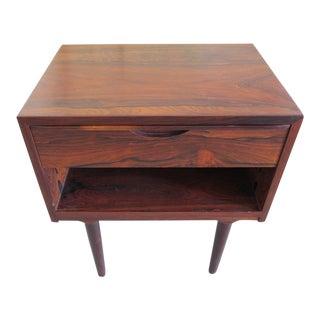 Arne Vodder Odense Danish Sculpted Rosewood Nightstand For Sale