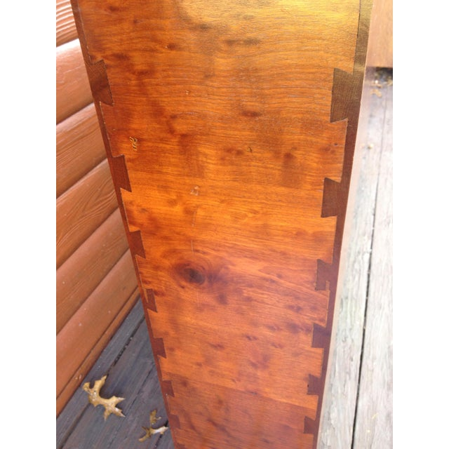 Art Deco Architect's Pickle Mahogany Instrument Chest for King Headboard For Sale - Image 3 of 13