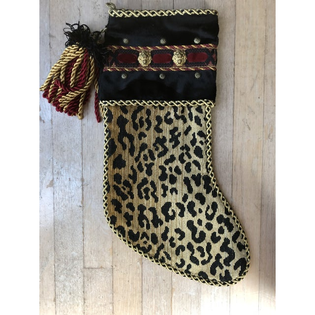 1990s Christmas Stocking in Leopard For Sale - Image 5 of 5