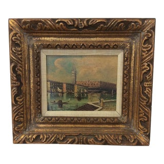 Late 19th Century Antique Venetian Grand Canal Oil Painting For Sale