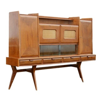 Italian Walnut Sideboard Dry Bar Mr8938 For Sale