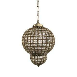 Moroccan Style 12 In. Crystal Pendant Light For Sale