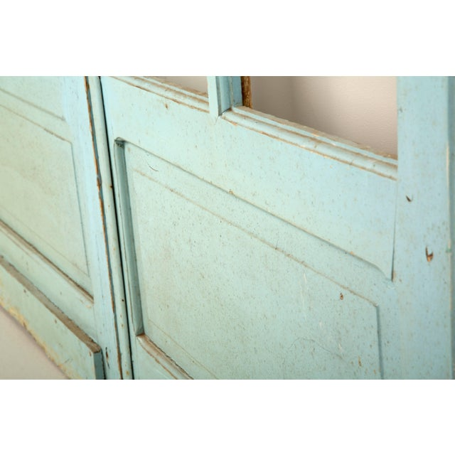 Glass Pair of Antique French Original Paint Doors, Circa 1800s For Sale - Image 7 of 10