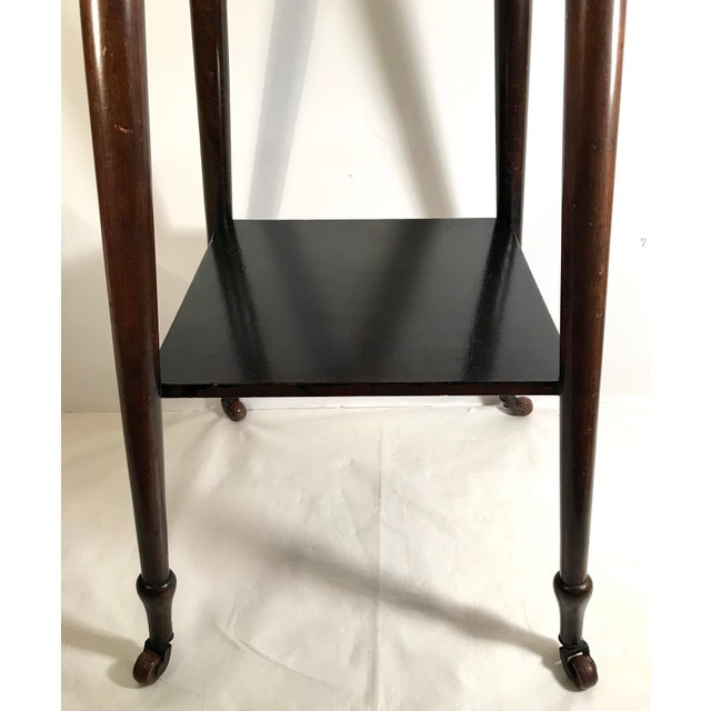 Beautiful tile top pub table. This versatile European side table could be used any number of places!