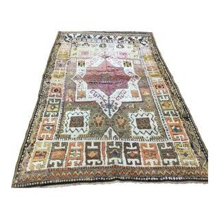 Antique Decorative Turkish Village Rug - 1′ × 1′8″ For Sale