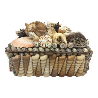Fine Vintage Shell Box For Sale