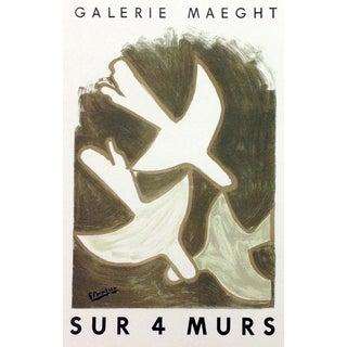 """1959 """"Sur Quatre Murs"""" Georges Braque 10, Lithograph Art in Posters For Sale"""
