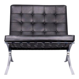 1990s Vintage Mies Van Der Rohe's Style Barcelona Chair For Sale