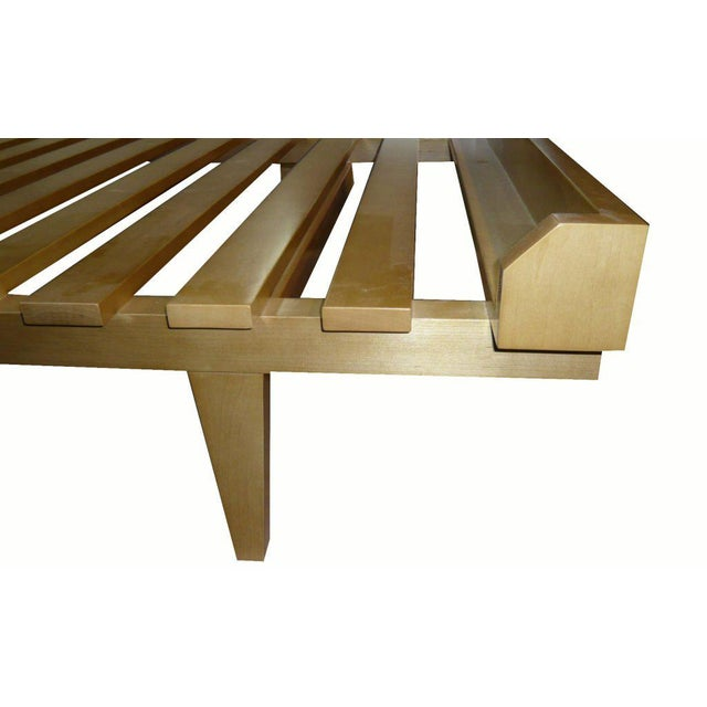 Yellow Customizable Moore Slatted Daybed Frame For Sale - Image 8 of 9