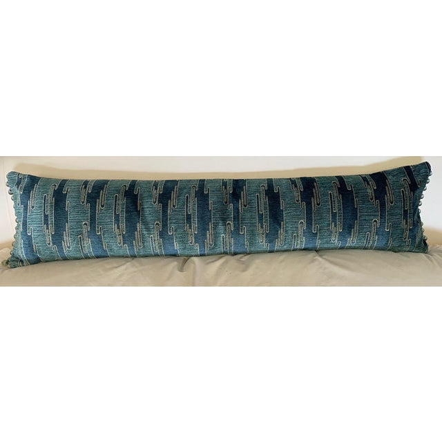 """12x48"""" Sora Velvet Pillow. Includes 95/5 down feather insert. Brand new pillow. Back ivory silk has a few minor pulls that..."""