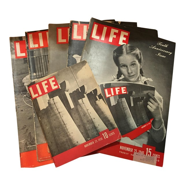 1936 Life Magazine First Historical Issues - Set of 6 - Image 1 of 11