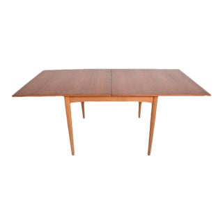 Danish Modern Teak Folding Dining Table For Sale
