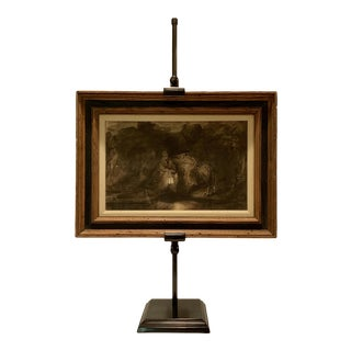 Framed Rembrandt Collotype Print With Stand For Sale