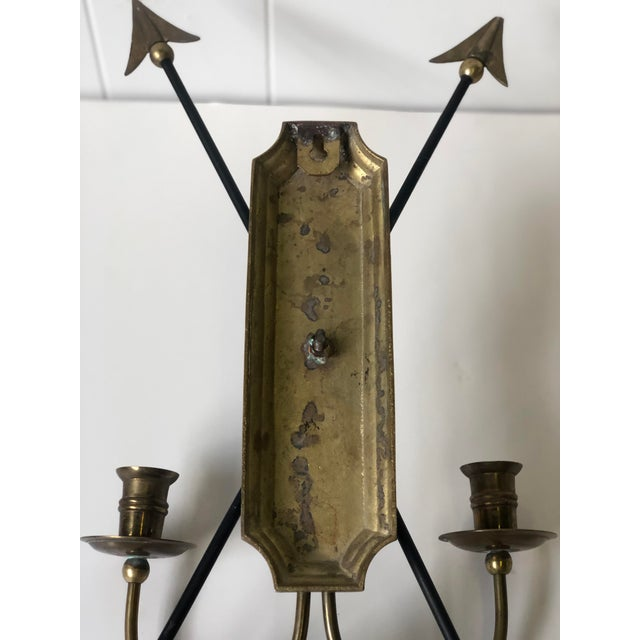 Neoclassical Arrow Wall Sconce of Brass For Sale - Image 9 of 11