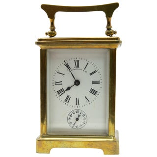 J. E.Caldwell & Co. Brass Carriage Clock For Sale