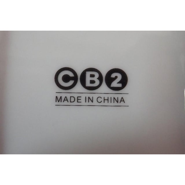 White CB2 Modern Dinnerware Featuring Mums - 40 Piece Set For Sale - Image 8 of 11