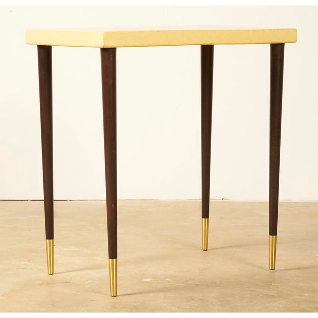Mid-Century Modern Paul Frankl Cork Top Side or Accent Table For Sale - Image 3 of 5