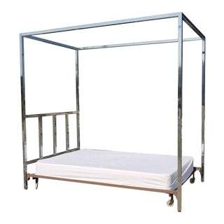 1940s Chrome Canopy Bed For Sale