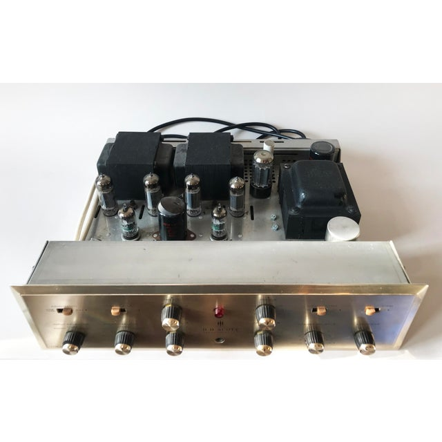 A great example of MCM audio design; tested and working, and warm sound! HH Scott integrated tube amplifier model 222c....