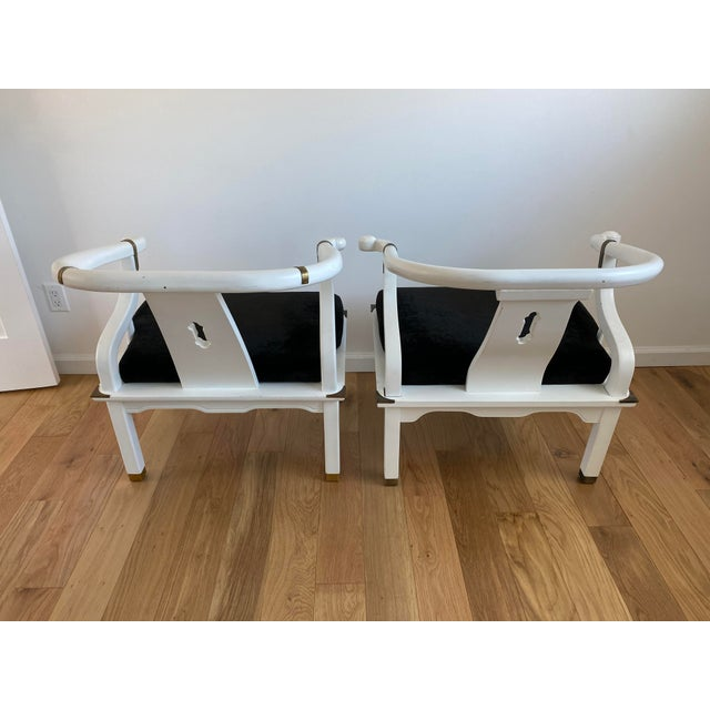 1960s 1960s Vintage James Mont Style Ming Chairs - a Pair For Sale - Image 5 of 11