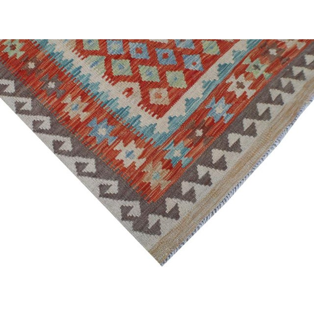 Handmae Vegetable Dyed Kilim Runner- 2′9″ × 9′6″ - Image 3 of 5