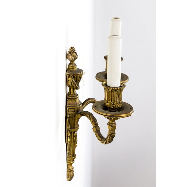 Bronze Gilt Bronze Empire Sconces (Pair) For Sale - Image 7 of 10