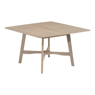 Wooden Outdoor Dining Table, Weathered Shorea Wood For Sale