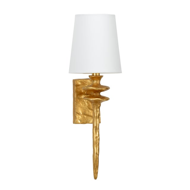 Traditional Saxon Sconce, Gold For Sale - Image 3 of 3