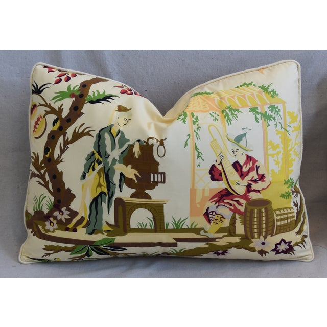 """Early 21st Century Brunschwig Fils & Scalamandre Velvet Feather/Down Pillows 23"""" X 17"""" - Pair For Sale - Image 5 of 13"""