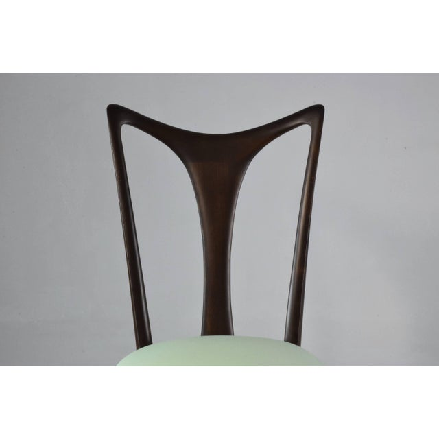 Mid-Century Modern Italian Vintage Dining Chairs Attributed to Guglielmo Ulrich, Set of Six, 1940s For Sale - Image 3 of 13