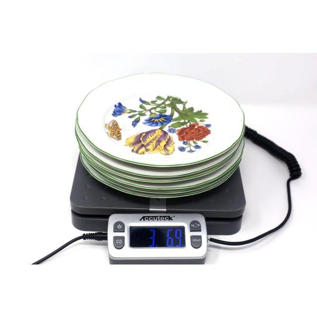 Vintage Bavarian China Floral Salad Plates by Bareuther - Set of 6 For Sale - Image 11 of 12