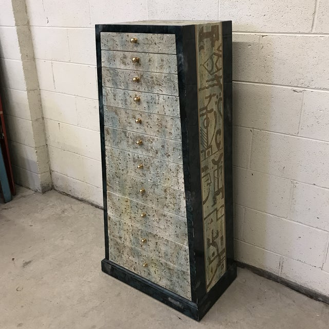 Contemporary Vintage Artmax Deco Lingerie or Jewelry Chest For Sale - Image 3 of 13