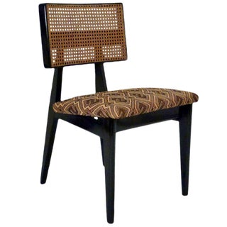 George Nelson for Herman Miller Cane Back Side Chair With Kuba Cloth Seat For Sale