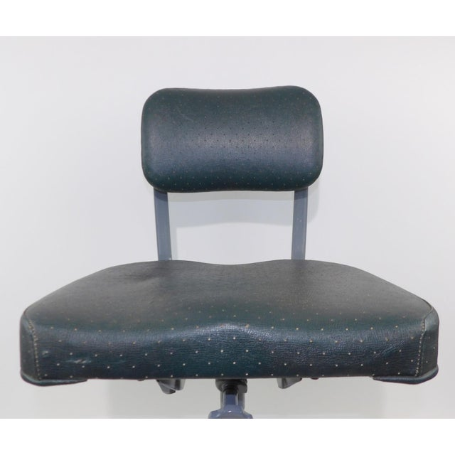 Remington Rand Mid-Century Adjustable Mechanical Age Industrial Office Chair For Sale In Sacramento - Image 6 of 11