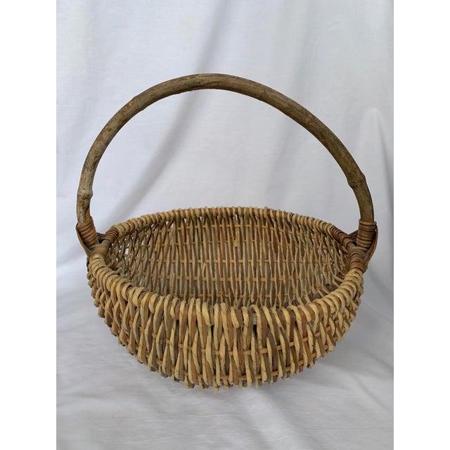 Cottage Vintage Buttocks Gathering Basket For Sale - Image 3 of 13