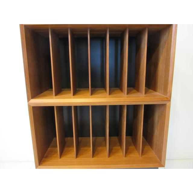 Wood Danish Cado Teak Record Cabinet For Sale - Image 7 of 10