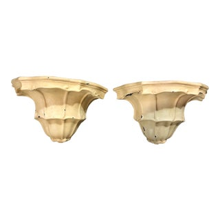 Vintage Sirmos Regency Style Wall Light Sconces - a Pair For Sale