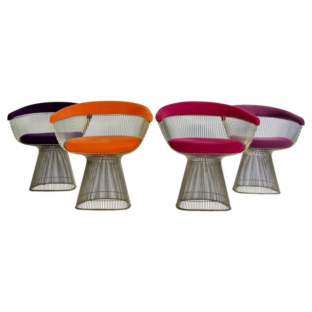 Set of Four Warren Platner Chairs For Sale - Image 11 of 11
