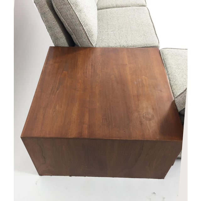 Brown Henredon Sectional Sofa With Corner Storage Case For Sale - Image 8 of 9