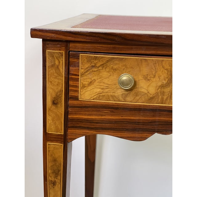 Pair of Italian Burl Wood Writing Tables For Sale - Image 4 of 13