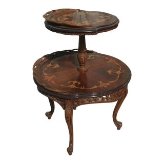 Early 20th Century Antique French Rococo Style Dumbwaiter Table For Sale