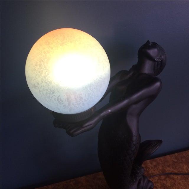 Art Deco Mermaid Lamp For Sale - Image 3 of 8