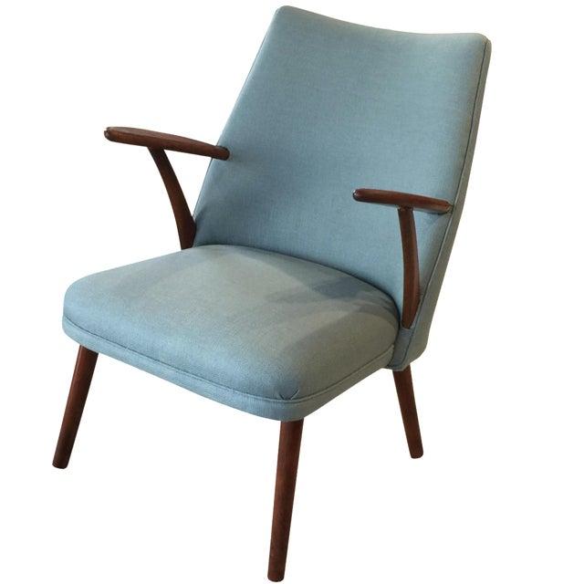 Light Blue Danish Modern Lounger - Image 1 of 6