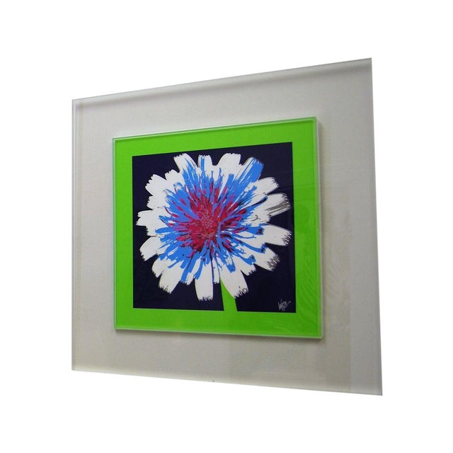 "Original ""Dandelion"" Photograph in Lucite Frame - Image 1 of 3"